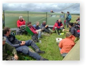 ARS staff and the vulunteers enjoy a break and a cup of tea