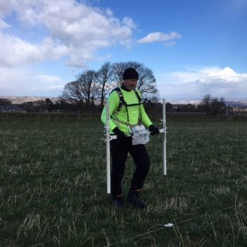 A member of our Geospatial team in action conducting a magnetometer survey. © Copyright ARS Ltd 2018