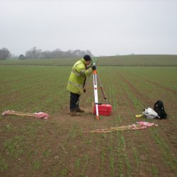 During fieldwalking the location of each find is recorded and accurately mapped. © Copyright ARS Ltd