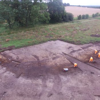 A view of the  wetland edge deposit which has produced the butchered animal bones.