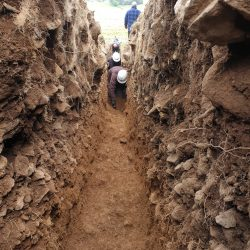 A view from inside the trench.