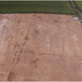 Aerial photo of enclosure and droveway. © Copyright ARS Ltd 2020