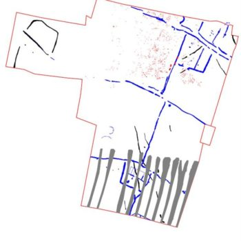 A plan of the site showing all archaeological features belonging to all phases. © Copyright ARS Ltd 2020