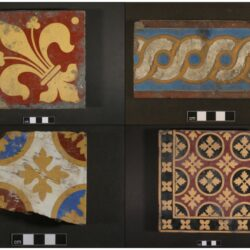 Encaustic tiles from the site. © Copyright ARS Ltd 2021