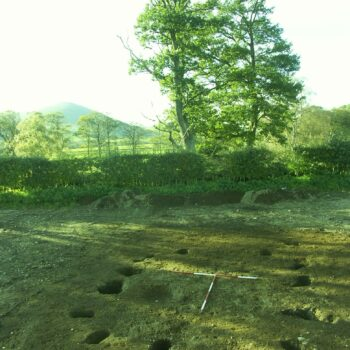 The remains of one of the Anglo-Saxon rectangular post-built structures. © Copyright ARS Ltd 2021.