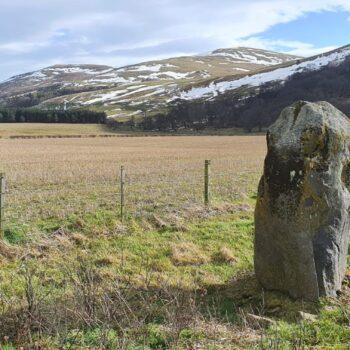 Yeavering standing stone. © Copyright ARS Ltd 2021.