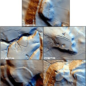 Lidar showing the Iron Age hillforts of the mid-Cheshire Ridge. © Copyright ARS Ltd 2021.