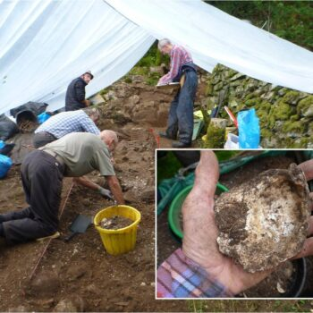 Excavations at Hir-Ynys in the Glaslyn estuary in Snowdonia