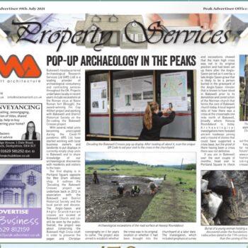 Bakewell Crosses Newspaper Article